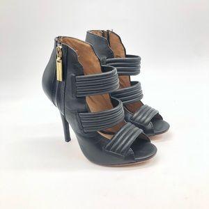 L.a.m.b black sandal heel.  Size 6